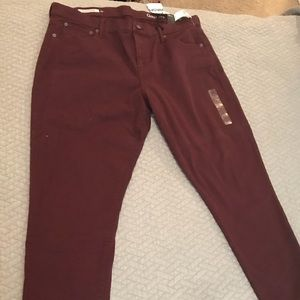 Size 16 Burgundy Gap Girlfriend Jeans